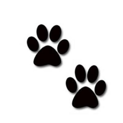 Dog paw print clip .