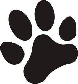 Dog Paw Print .