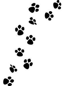 Dog Paw Prints; Cat Paw Print .
