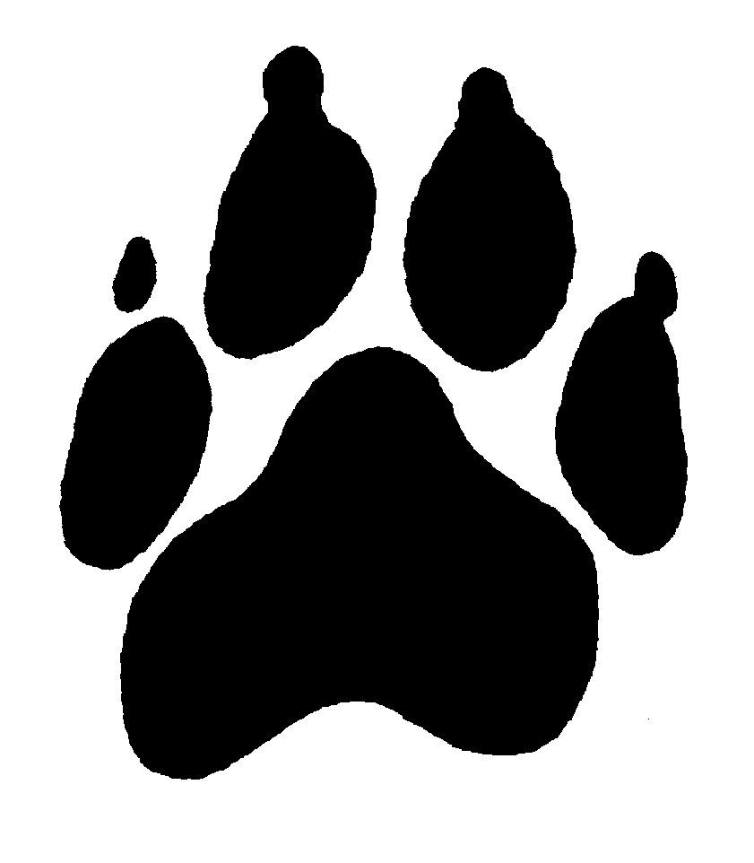 Dog paw prints free clip art