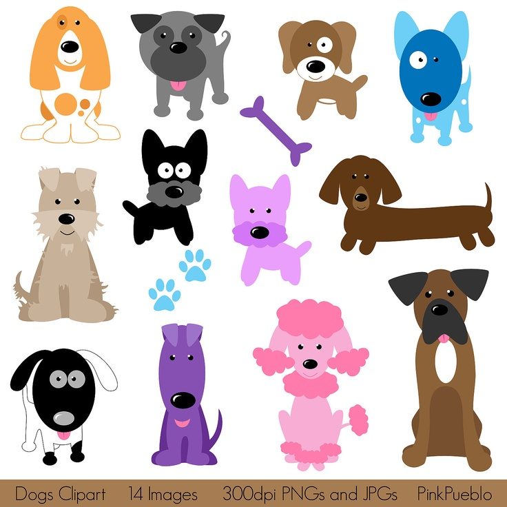 Dogs Clipart Clip Art, Puppy Clipart Clip Art - Commercial and Personal Use. $6.00