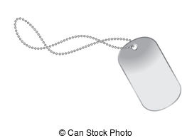Dogtag - Raster illustration file of a dog tag on chain