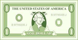 Dollar Bills Vector Clipart #1. dollar