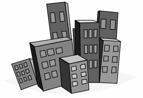 Domain Buildings clip art, .