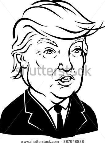 Donald John Trump isolated .