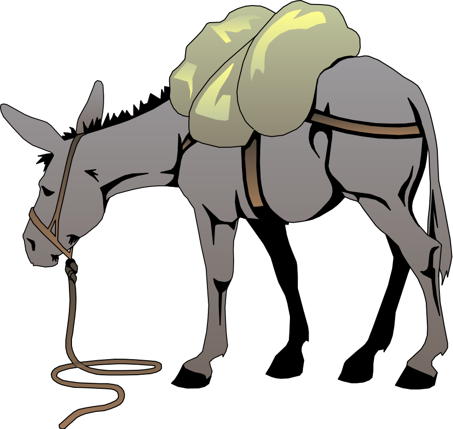 Donkey clip art free clipart images 3
