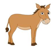 donkey equidae clipart. Size: 45 Kb