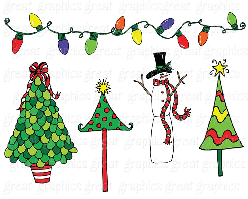 6 Christmas Party Clip Art Preview Doodles Clipart Hdclipartall