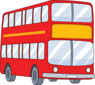 double decker red bus clipart. Size: 111 Kb