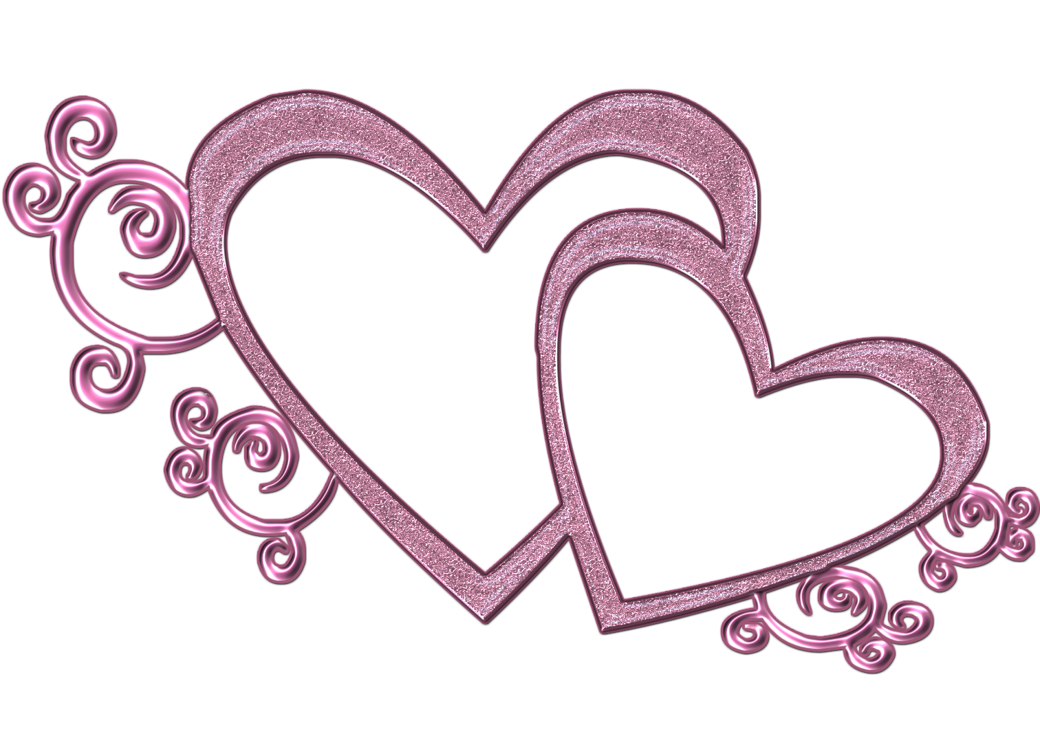 Double Free Wedding Heart Clipart Pink Double Heart