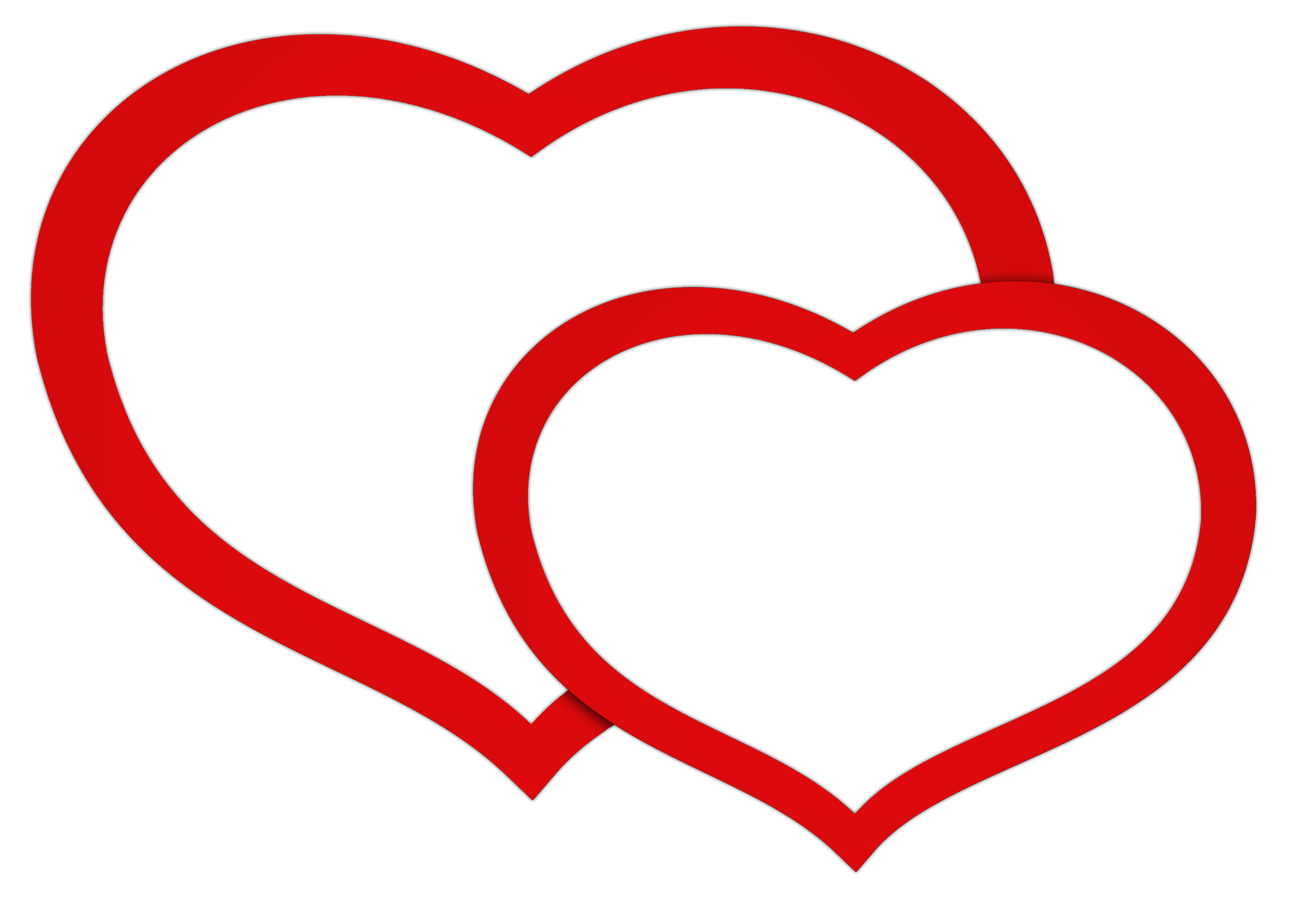 Double Heart Clip Art