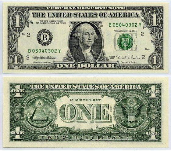 Download 1 Dollar Bill Clipart