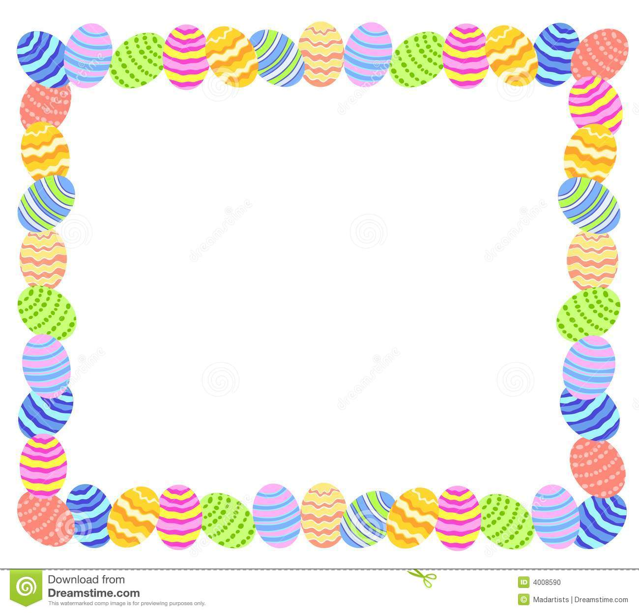 Download Easter Bunny Border Clipart