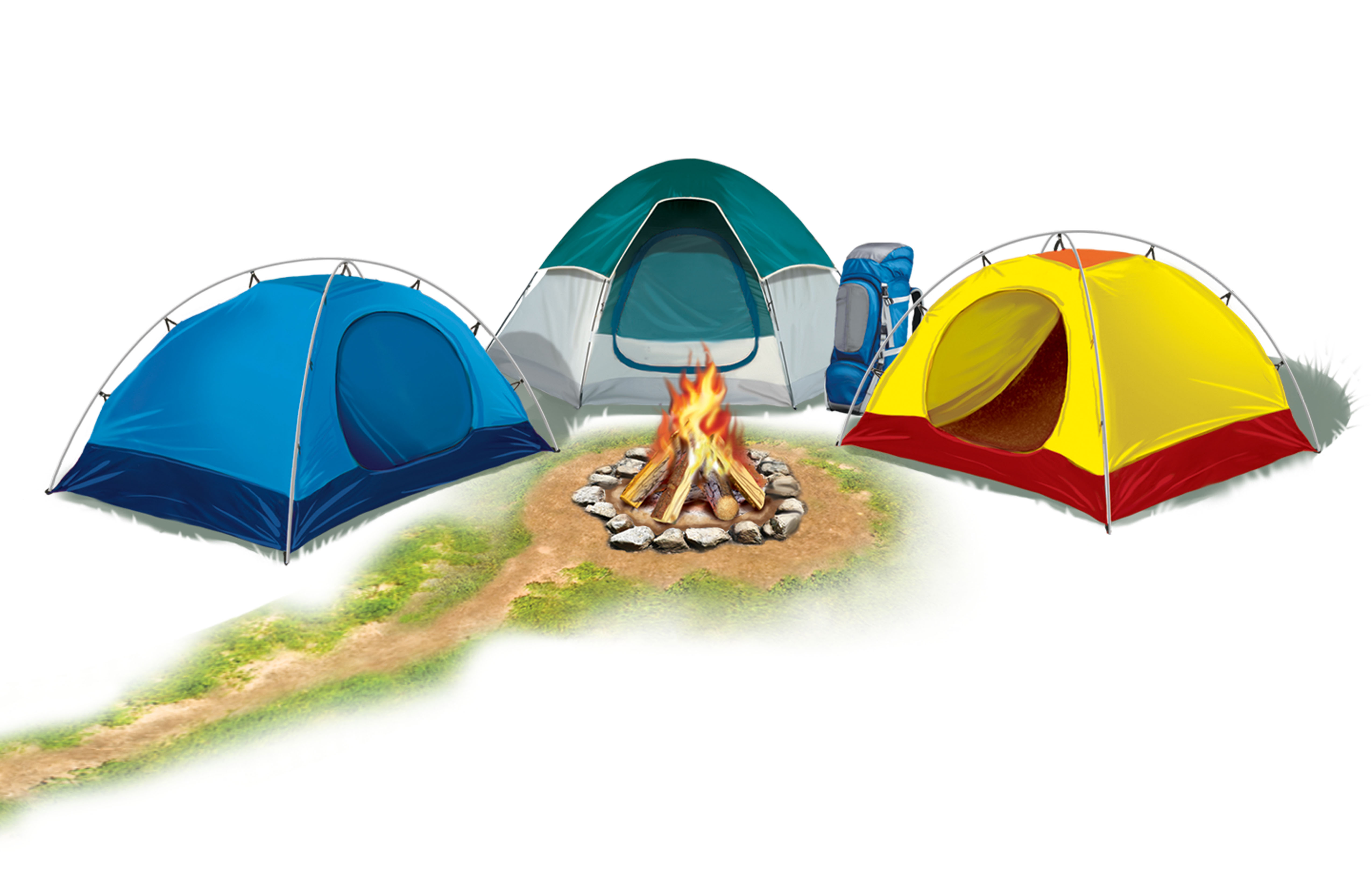 Download Links Campsite Campfire Trees Wooden Sign