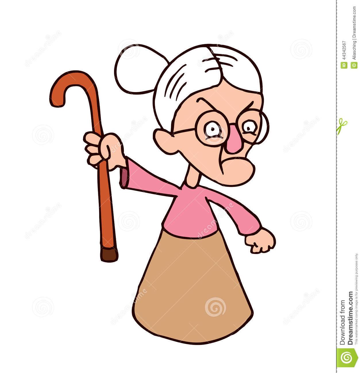 Download Mad Grandma Clipart