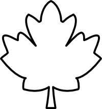 Download Maple Leaf Black And White Clipart