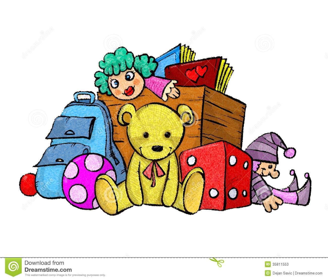 Download Pile Of Toys Clipart