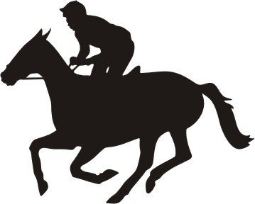 Download Race Horse Silhouette Clipart