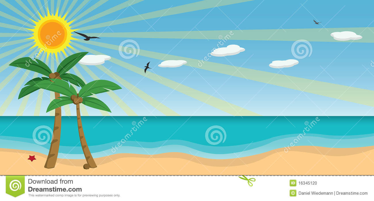 Download Sunny Day At The Beach Clipart