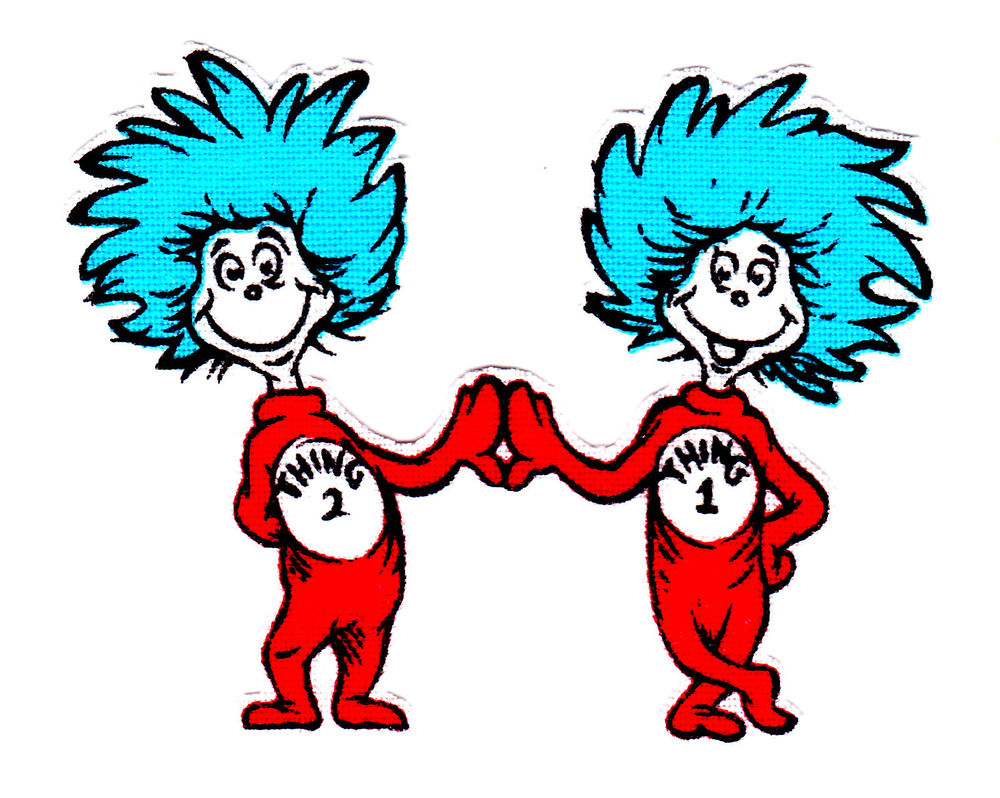 dr seuss coloring pages thing 1 and thing%