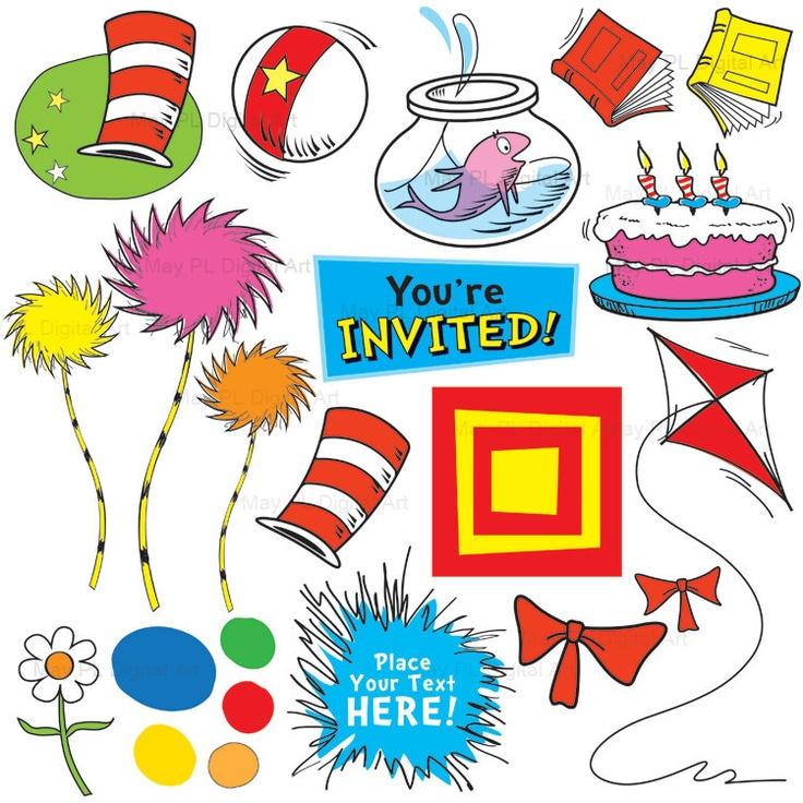 Dr Seuss Inspired Clip Art ..