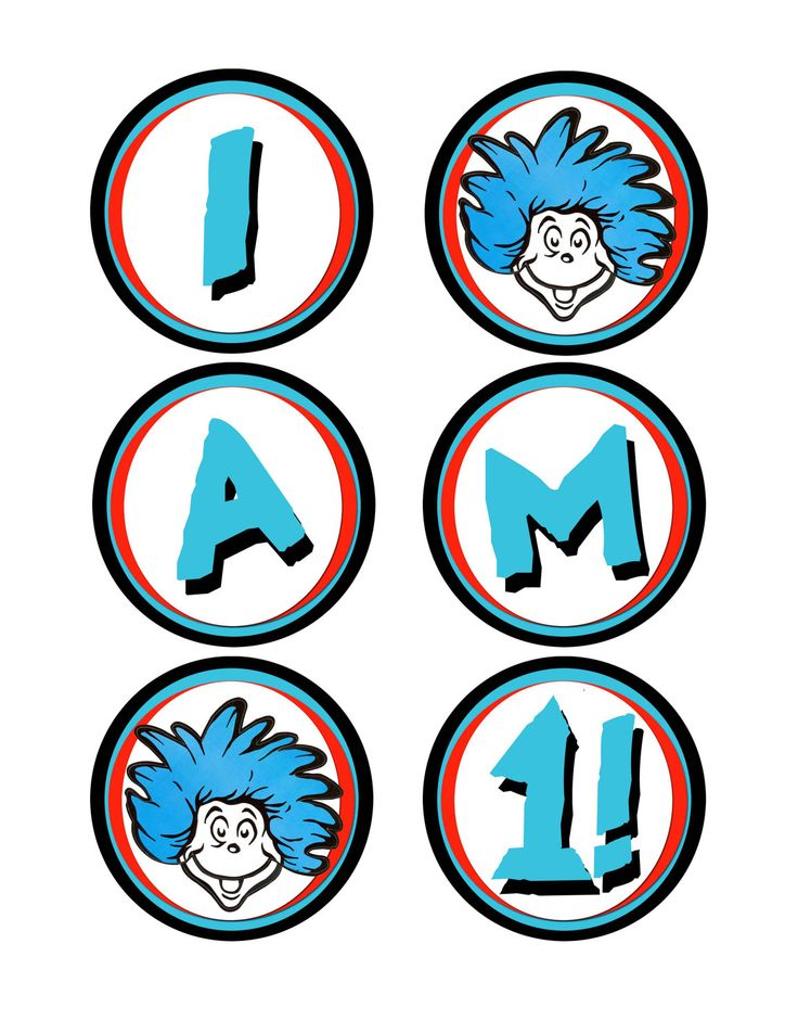 Dr seuss thing 1 and thing 2 printable clip art clipart