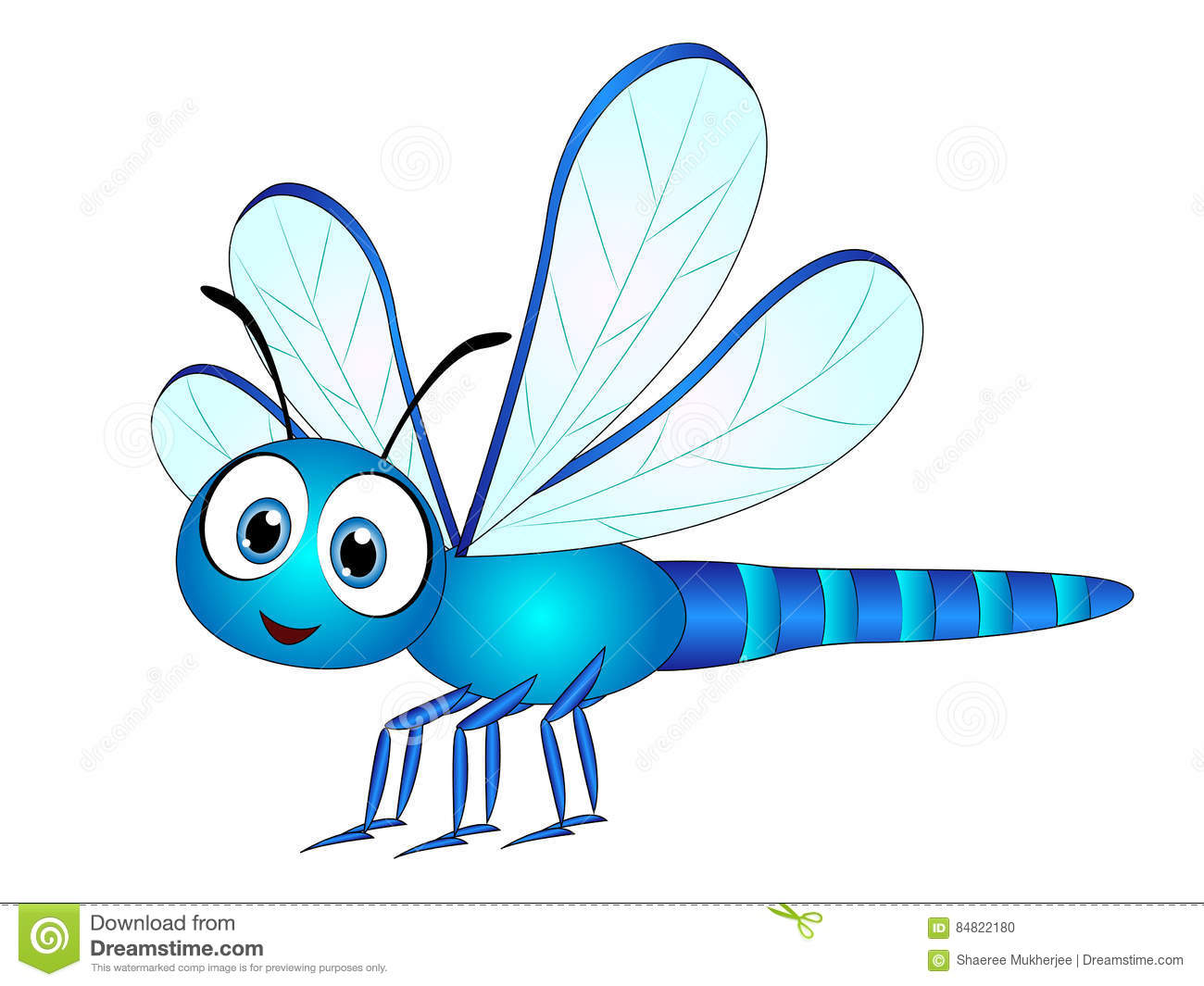 Cartoon Dragonfly Clip Art