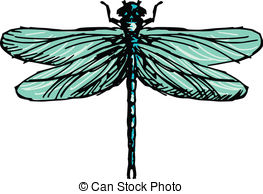 Dragonfly Clip Artby Deimos2/727 dragonfly - hand drawn, sketch  illustration of dragonfly
