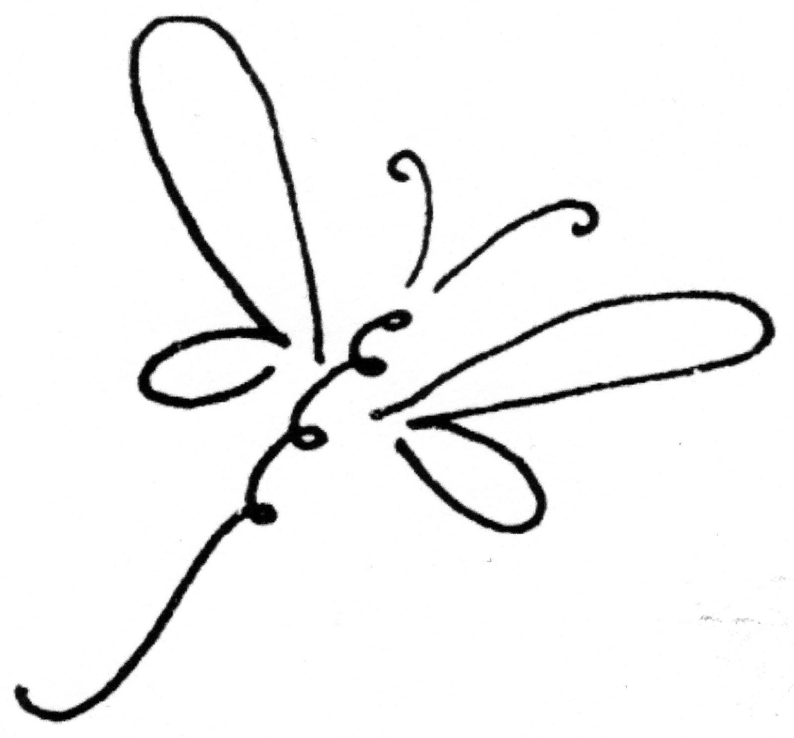Dragonfly Clipart, Doodle Art, Line Art, Dragonfly Drawing, Dragonfly Art,  Dragonfly