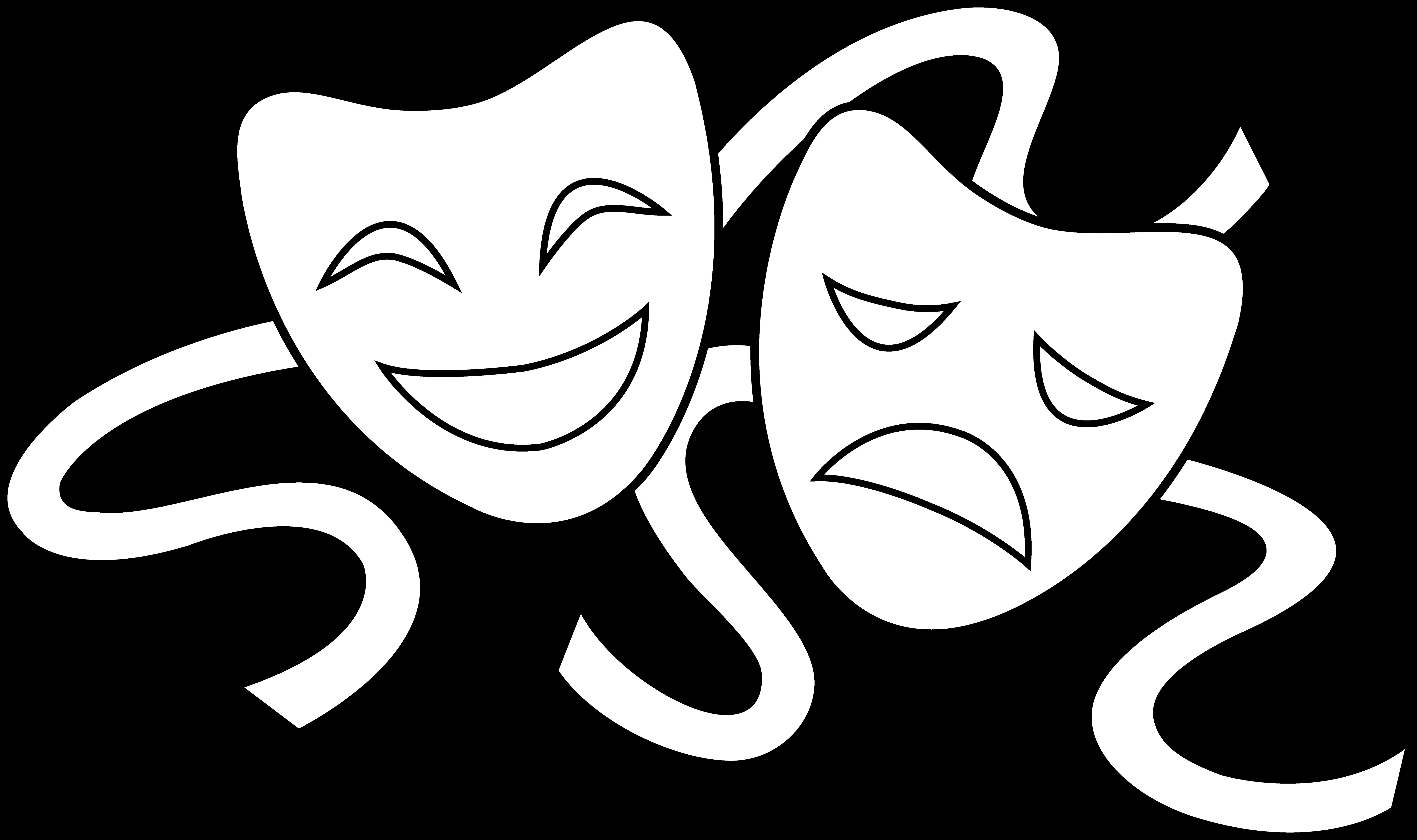 ... drama masks drawings clipart ...