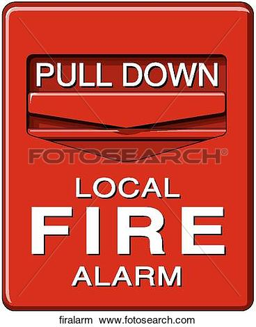Drawing - Fire Alarm. Fotosearch - Search Clip Art Illustrations, Wall Posters, and