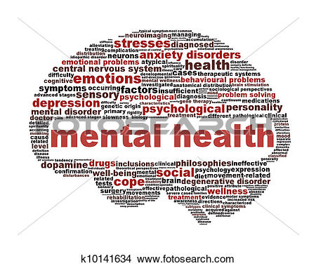 Drawing - Mental health symbol isolated on white. Fotosearch - Search Clip Art Illustrations,