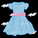 Blue dress clipart