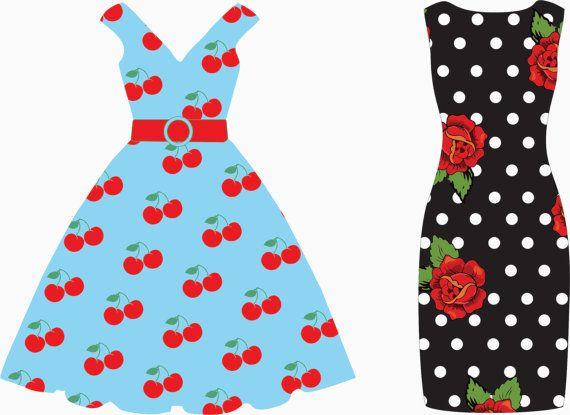 Dress clipart party dress #4