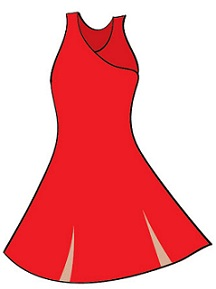 Red Dress Clipart #5
