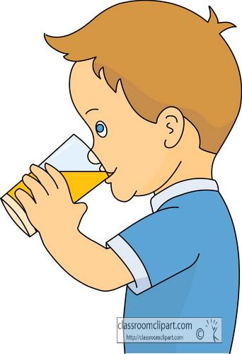 Drink And Beverage Clipart Boy Drinking Orange Juice Classroom