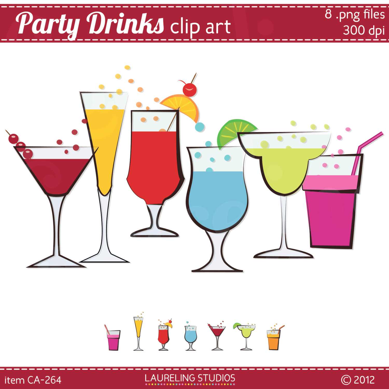 drink clipart, summer drink .