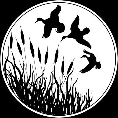 duck silhouette clip art | ... Stock Photo: Illustrated silhouette of ducks flying