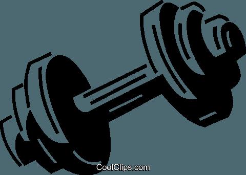 dumbbell Royalty Free Vector Clip Art illustration