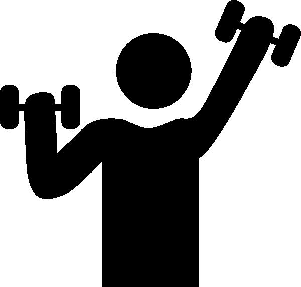 Exercise With Dumbbells Symbol Clip Art at Clker clipartlook.com - vector clip art  online, royalty free u0026 public domain