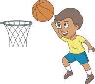 Dunking Boy Playing Basketball Size: 85 Kb