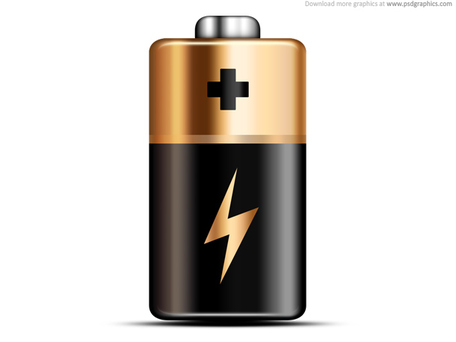 Duracell Battery; Battery icon (PSD)
