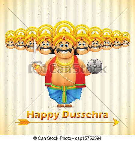 Ravana with ten heads for Dussehra - csp15752594
