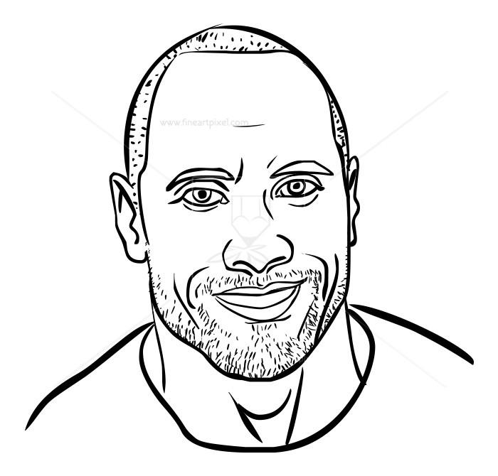 Dwayne Johnson-Rock-Sketch