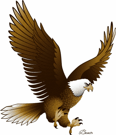 Eagle clip art with raised wings free clipart images 2