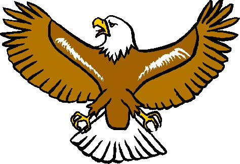 Eagle clip art with raised wings free clipart images 3