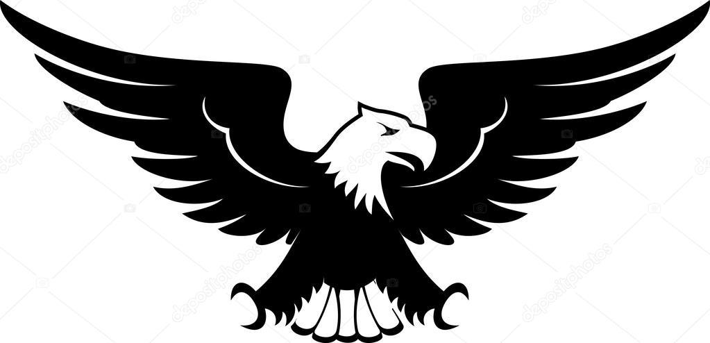 Beyaz arka plan üzerinde izole eagle tasarım ön görünüm görüntüsü u2014  hayaship - Vektör