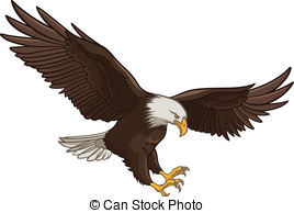 ... Eagle - Vector illustration of a Bald Eagle, isolated on a.