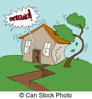 ... Earthquake Property - An image of a residential earthquake.