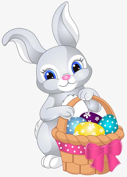cute bunny basket, Cute Bunny, Rabbit Meng Expression, Basket Baskets Bunny  PNG Image